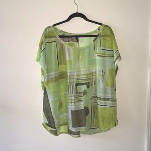Multi green and gray color shirt
